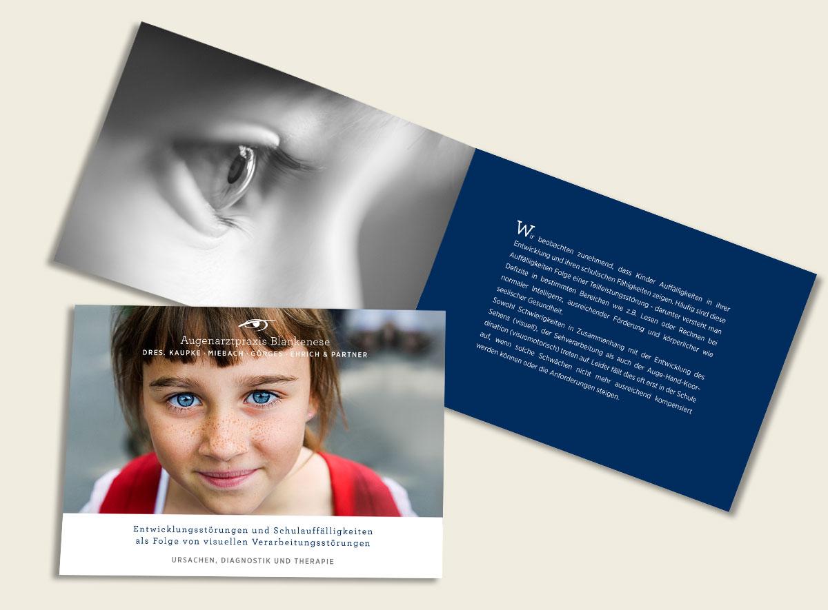 Broschüre für die Augenarztpraxis Blankenese zum Thema